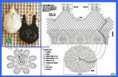 Crochet Bag - Chart     ♪ ♪... #inspiration #diy #crochet  #knit GB  http://www.pinterest.com/gigibrazil/boards/