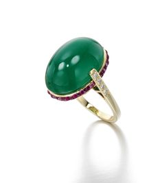 Lot | Sotheby's. Emerald, Ruby and Diamond ring. Sold for £7, 500