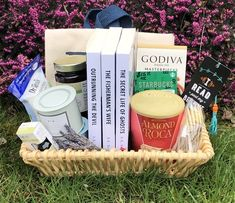 Romantic Suspense Gift Basket - Romantic Suspense Gift Basket Best Picture For DIY decorating on a budget For Your - Almond Roca, Spearmint Essential Oil, Sockeye Salmon, Starbucks Gift Card, Christmas Pictures, Soy Candles, Gift Baskets, Giveaway, Herbalism