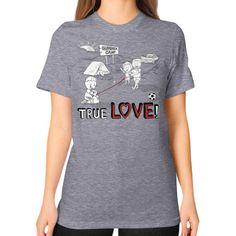TRUE LOVE!  Unisex T-Shirt (Color : Tri Blend Grey) -  By Wear Gordons