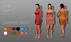 Lana CC Finds - simpliciaty:  Gunsmoke Dress  Super tight suede...