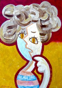 Sneaky #contemporaryart #popart #comic #illustration #portrait #painting #modern #art #human #catgirl #woman #soulinthecity
