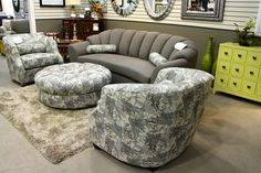 Emerald Home Sofa, Accent Chairs and Ottoman - Colleen's Classic Consignment, Las Vegas, NV - www.cccfurnishings.com