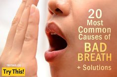 Halitosis (bad breath) can be solved with good oral hygiene Chronic Bad Breath, Causes Of Bad Breath, Bad Breath Remedy, Best Oral, Oral Health, Medical Conditions, How To Stay Healthy, Breathe, The Cure
