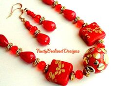 Red Jewelry by Julie and Kate on Etsy