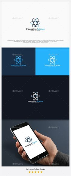 Innovative Science - Creative Atom Logo Template Vector EPS, AI Illustrator #logotype Download here: https://graphicriver.net/item/innovative-science-creative-atom-logo-template/16915903?ref=ksioks