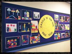 Art inspired by Paul Klee - Castle in the Sun. School Displays, Classroom Displays, Knights And Castles Topic, Castle Classroom, Traditional Tales, Medieval, Fairytale Art, Paul Klee, Arts Ed