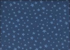 Jersey jeansblau mit Sternen