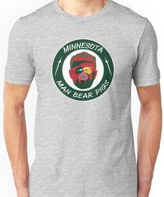 Minnesota Man Bear Pig Unisex T-Shirt