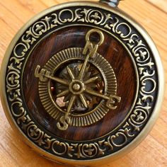 Steampunk Victorian Compass pocket watch nautical pirate pendant charm necklace locket on Etsy, $39.99