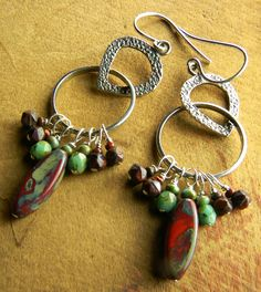 Boho Tribal Jewelry Sterling zilver lange Dangle door ChrysalisToo