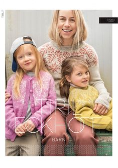 Tiril 7 Snow crystal for children - Knitting yarn and knitting patterns - TWO WOMEN Knitting Yarn, Knitting Patterns, Ravelry, Kids Outfits, Crochet Hats, Children, Mini, Prints, Handmade