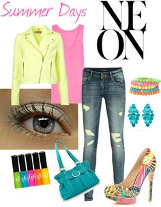 Summer Days: NEON, created by ciara-brooke on Polyvore