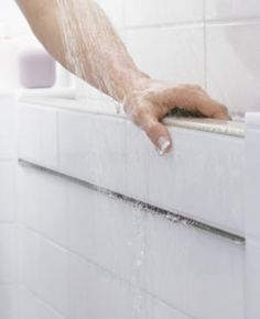 Bathroom Universal Design. The built in hand rails could really be useful in the shower or tub for extra support sitting up or standing, or just having a ledge to lean on.
