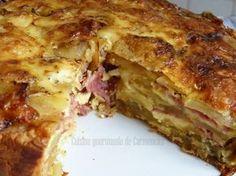 Gâteau de pommes de terre au bacon et au chèvre