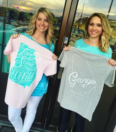 Amber and Abby with their favorite Georgia tees from @laurenjames ✨ Shop all •NEW• Lauren James ONLINE now! #laurenjames #shopPD
