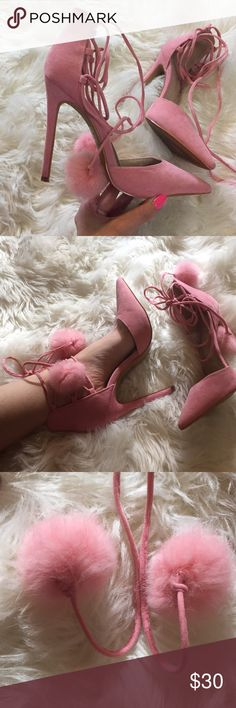 High heel heels. Pink Blush pink high heels. Added soles for more comfort. Very gently used. 4.5 inches tall. No trades. Make offer. Shoe Republic LA Shoes Heels