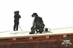 Unser Zimmermann wird bei der Arbeit gefilmt #Alpenzauber #Köln #MediaPark #RTLWest