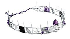 Colleen Schmulow and Absalom Khumalo -platinum headpiece with amethyst The Magnificent Seven, Headpiece, Amethyst, Jewellery, Guys, Headdress, Jewels, Schmuck, Amethysts