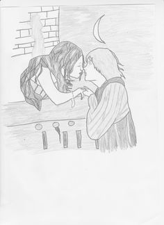 #r&jedit my drawing Olivia Hussey & Leonard Whiting  as romeo and juliet