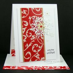 Paper Scaper: Red Packing Tape - CAS card