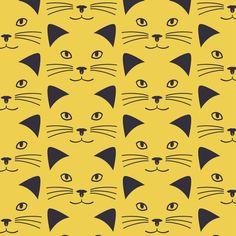 【Smile Cat】Orie's Animal textile design. #猫イラスト #テキスタイル #生地 #textile #design #テキスタイルデザイン #柄 #デザイン Textile Patterns, Textile Design, Textiles, Cats, Fictional Characters, Gatos, Fabrics, Cat, Fantasy Characters