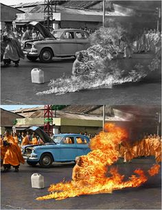 Once in Vietnam... I burned alone...
