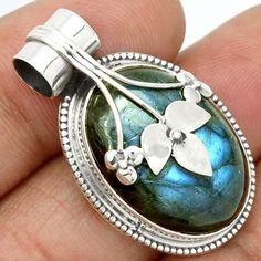Labradorite-925-Sterling-Silver-Pendant-Jewelry-SP120572