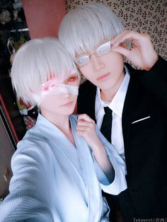 東京喰種:re - mianmian(绵绵) Kisho Arima, Takuwest(沢西) Ken Kaneki Cosplay Photo - Cure WorldCosplay