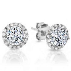 Pink Tourmaline And Diamond Halo Stud Earrings