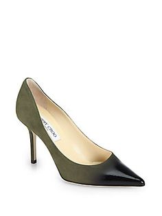 Jimmy Choo Agnes Suede & Patent Leather Degrade Pumps