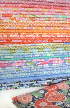 """Kate Spain's new """"Honey"""" fabric for Moda. If you love hydrangeas and gorgeous spring colors--you need this fabric!"""