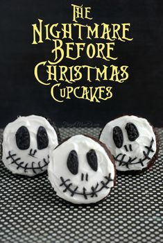 Who doesn't love Tim Burton inspired treats? These Nightmare Before Christmas cupcakes are perfect for Halloween and incredibly easy to create. Jack has never looked or tasted better! #Halloween #Cupcakes