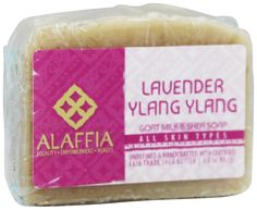 Alaffia Daily Toning Facial Soap Shea Butter and Goat's Milk Sweet Lavender -- 3 oz. Alaffia's mission embodies three clear principals: Create - We formulate and create our products based on indigenous beauty knowledge and fair trade ingredients. Inform - We believe that it is our duty to inform the public about interconnections between communitites and how, together, we can alleviate poverty through fair trade and sustainable choices. Empower - The fair trade of our handcrafted shea…