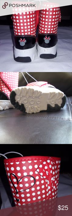 Minnie Mouse Boots Girls disney Size 5Shoes Rain Minnie Mouse Boots Girls disney Size 5 Kids Shoes Rain White Red Black New Store Snow Boots :) Disney Shoes Boots