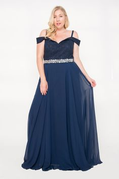 2f8ddb30c8ce7 Long Plus Size Prom Dress Formal Gown