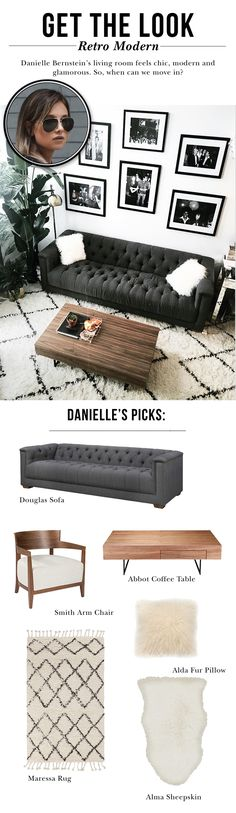 We Wore What&amp s Danielle Bernstein uses nothing but neutrals to dress up her living room. We&amp re loving it. My Living Room, Home And Living, Living Room Decor, Living Spaces, Living Room Inspiration, Home Decor Inspiration, Style Inspiration, My New Room, Apartment Living