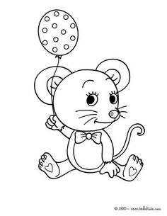 Print out and color this Mouse coloring page. Nice pets drawing for kids. More animals coloring pages on hellokids.com