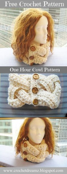 A one hour, one skein Chunky Cowl Crochet Pattern you would love to make.