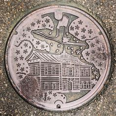 【minamu4545alchemist】さんのInstagramをピンしています。 《鶴岡市の蓋。 こっちは大きい版。 描かれているのは同じく鶴ヶ岡城にある『大宝館』と市の花・サクラと市の鳥・鶴です。 鶴岡市上下水道部周邊にて。 鶴岡市の蓋は長島さんとこの子と日之出さんとこの子が混在してるようですね。 ちなみに此の蓋は長島さんとこの子。 #manhotalk #manhole #manholecover #manholejp #manholestagram #manholeunited #cooljapan #squircle #art_on_the_ground #sewerage #マンホール #マンホールの蓋 #マンホール倶楽部 #蓋 #ご当地 #下水道 #デザインマンホール  #山形県 #鶴岡市 #花蓋 #flower #櫻蓋 #サクラ #桜 #cherryblossoms #鶴 #ツル #大宝館 #鶴ヶ岡城 #長島鋳物》