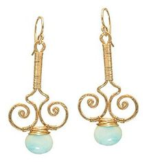 Peruvian Opal earrings. To die for!