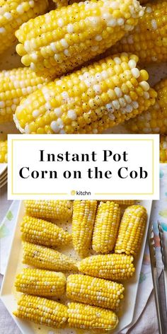 How To Make Buttery Corn on the Cob in the Instant Pot. How To Make Buttery Corn on the Cob in the Instant Pot Instant Pot Pressure Cooker, Pressure Cooker Recipes, Pressure Cooking, Slow Cooker, Pressure Pot, Rice Cooker, Crockpot Recipes, Cooking Recipes, Healthy Recipes