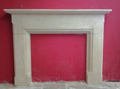 'Worcester' Bath Stone Fireplace Fire Surround. Price includes EXTERNAL HEARTH! | eBay