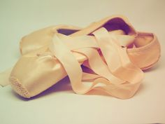 pair of brown leather flats When I was about 16 years old I started pointe lessons in ballet class.