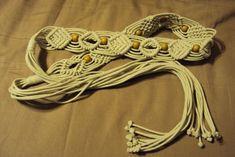 Vintage Macram'e Belt by tammymurley on Etsy