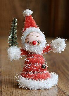 Vintage Christmas ornament!!! Bebe'!!! Vintage Santa Claus