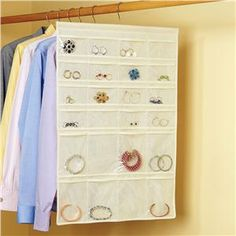 I have these and love them! Double-sided Hanging Jewelry Organizer   Lillian Vernon - Bed & Bath   Lillian Vernon