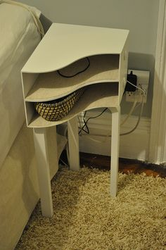 Ikea hacked bedside tables so clever, would be great for bedside or file storage or even shoe storage! i've gota try this one!