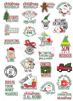 Free Christmas Planner Stickers - 25 Different Funny & Cute Designs Blog Planner, Free Planner, Happy Planner, Planner Ideas, Passion Planner, Christmas Stickers Printable, Free Christmas Printables, Printable Planner Stickers, Free Printables