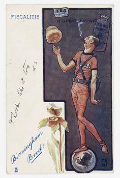 Satirical postcard of Joseph Chamberlain, around 1905